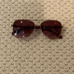 New Coach Red And Gold Sunglasses